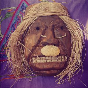 Shipibo Tribesman Wall Mask